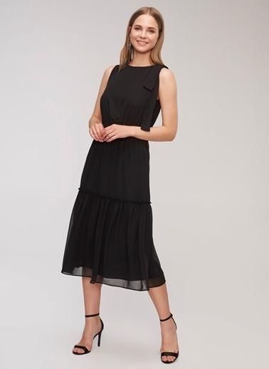 People By Fabrika Kuşak Detaylı Elbise Siyah